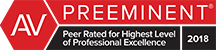 AV | Preeminent | Peer Rated For Highest Level Of Professional Excellence 2018